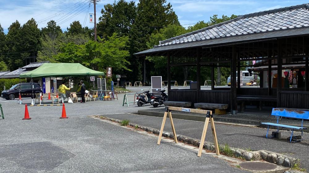 吉野山 下千本駐車場東屋